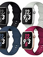 cheap -Smartwatch band compatible with apple watch 38mm 40mm 42mm 44mm, 4 pack soft replacement sport accessory strap wristband for iwatch se series 6/5/4/3/2/1 women men