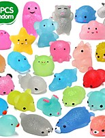 cheap -28pcs Mochi Squishys Toys 2nd Generation Party Favors for Kids Birthday Gift for Girl Boy Glitter Mini Squishy Mochi Animal Squishies Stress Relief Toy Xmas Gift for Kid Adult, Random