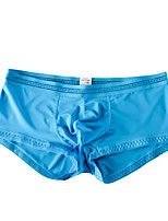 cheap -Men's 1 PC Basic Boxers Underwear Low Waist White Black Blue M L XL