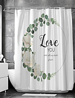cheap -Waterproof Fabric Shower Curtain Bathroom Decoration and Modern and Characters