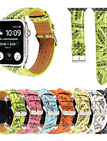 cheap -Smart Watch Band for Apple iWatch 1 pcs Printed Bracelet Canvas Replacement  Wrist Strap for Apple Watch Series SE / 6/5/4/3/2/1