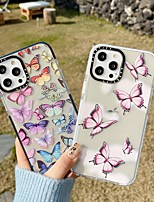 cheap -Phone Case For Apple Back Cover iPhone 12 Pro Max 11 SE 2020 X XR XS Max Shockproof Dustproof Butterfly TPU