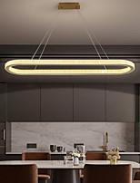 cheap -LED Pendant Light Modern Nordic Gold Circle 90 cm Lantern Desgin Metal Electroplated 110-120V 220-240V