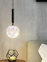 cheap -LED Pendant Light Moon Design Bedside Light Modern Black Gold Globe Desgin 15 cm Metal Electroplated Painted Finishes 110-120V 220-240V
