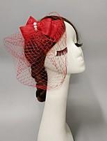 cheap -Feathers / Net Fascinators / Hats / Headpiece with Bowknot / Lace / Cap 1 PC Wedding / Horse Race Headpiece