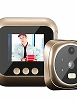cheap -Wifi 2.4 Inch Home visible Cat Eye Doorbell Smart Voice Phone Intercom Video Anti-Theft Surveillance Doorbell Security System