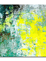 cheap -Oil Painting Handmade Hand Painted Wall Art modern craft paintingyellow green abstract Home Decoration Dcor Rolled Canvas No Frame Unstretched