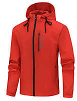 cheap -Men's Hiking Jacket Hoodie Jacket Hiking Windbreaker Autumn / Fall Spring Summer Outdoor Quick Dry Lightweight Breathable Sweat wicking Coat Top Hunting Fishing Climbing White Black Blue