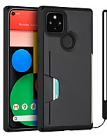 cheap -Phone Case For Google Back Cover Google Pixel 4a Google Pixel 5 Google Pixel 5 XL Card Holder Shockproof Dustproof Tile Solid Colored TPU