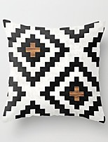 cheap -Double Side Cushion Cover 1PC Soft Geometric Decorative Square  Pillowcase for Sofa bedroom Car Chair Superior Quality Outdoor Cushion for Patio Garden Farmhouse Bench Couch