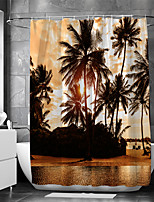cheap -Waterproof Fabric Shower Curtain Bathroom Decoration and Modern and Beach Theme and Landscape