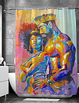 cheap -Waterproof Fabric Shower Curtain Bathroom Decoration and Modern and People
