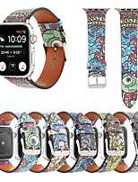 cheap -Smart Watch Band for Apple iWatch 1 pcs Cartoon Band PU Leather Replacement  Wrist Strap for Apple Watch Series SE / 6/5/4/3/2/1