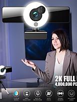 cheap -Webcam 8809 Mini Web Camera For Computer Laptop With Microphone Auto Focus Ring Light Video Webcam 1080P 2K Live Broadcast Web Cam 2K Version
