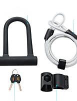 cheap -Bike Locks Portable Locking Security For Road Bike Mountain Bike MTB Folding Bike Recreational Cycling Cycling Bicycle Steel White Black Rough Black