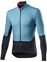 cheap -21Grams Men's Long Sleeve Cycling Jersey Spandex Polyester Blue / Black Patchwork Bike Jersey Top Mountain Bike MTB Road Bike Cycling Quick Dry Moisture Wicking Breathable Sports Clothing Apparel