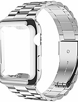 cheap -Smartwatch band compatible with apple watch band 38 mm series 3, 2, 1, improved stainless steel link replacement band with iwatch screen protector, silver / silver