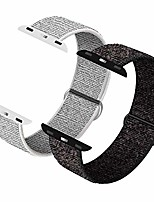 cheap -Smartwatch band compatible with watch strap with 42mm 44mm, soft sports loop, strap replacement for watch series 6/5/4/3/2/1, n + black & summit white