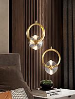 cheap -LED Pendant Light Crystal Bedside Light Modern Nordic Gold 15cm Lantern Desgin Copper Brass 110-120V 220-240V