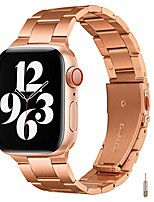 cheap -smartwatch band bracelet compatible with apple watch bracelet 44 mm 42 mm 40 mm 38 mm, stainless steel bracelet compatible with iwatch series 6/5/4/3/2/1, se (42mm 44mm, rose gold)