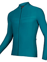 cheap -21Grams Men's Long Sleeve Cycling Jersey Spandex Polyester Blue Solid Color Bike Jersey Top Mountain Bike MTB Road Bike Cycling Quick Dry Moisture Wicking Breathable Sports Clothing Apparel