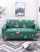 cheap -Green Flamingo Print Dustproof All-powerful Slipcovers Stretch Sofa Cover Super Soft Fabric Couch Cover with One Free Boster Case(Chair/Love Seat/3 Seats/4 Seats)