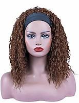 cheap -dreamsoul headband wig culry wigs for black women black mix brown color