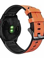 cheap -Smart watch band for fenix 6/fenix 5, genuine leather with silicone sweatproof quick easy fit 22mm wristband strap for garmin fenix 6 pro/sapphire,approach s62/s60,instinct,quatix 6/5