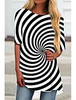 cheap -Women's T Shirt Dress Tee Dress Short Mini Dress Black Half Sleeve Print Print Spring Summer Round Neck Casual 2021 S M L XL XXL 3XL