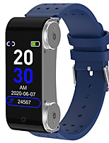 cheap -90 Smartwatch for Android iOS Bluetooth IP 67 Waterproof Level Waterproof Touch Screen Heart Rate Monitor Sports Calories Burned ECG+PPG Stopwatch Pedometer Call Reminder Sleep Tracker