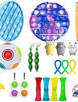 cheap -21 pcs Fidget Sensory Toy Set Stress Relief Toys Autism Anxiety Relief Stress Pop Bubble Fidget Toys For Kids Adults