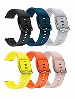 cheap -Smartwatch band 22mm quick release sports bracelet made of soft silicone replacement bracelet compatible with amazfit gtr 47mm / pace / stratos (6 pack)