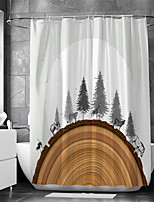 cheap -Waterproof Fabric Shower Curtain Bathroom Decoration and Modern and Animal Series