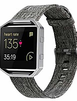 cheap -Smartwatch band compatible with fitbit blaze wristband woven wristband, replacement wristband woven fabric wristbands accessories sports wristbands (dark gray)