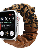 cheap -Smart Watch Band for Apple iWatch 1 pcs Printed Bracelet Fabric PU Leather Replacement  Wrist Strap for Apple Watch Series SE / 6/5/4/3/2/1