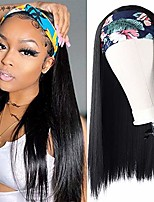 cheap -forcuteu headband wigs for black women straight synthetic wig heat resistant headband wigs hair silky straight hair wigs 24 inch for daily party use