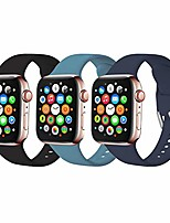 cheap -Smartwatch band bracelet compatible with apple watch 38mm 42mm 40mm 44mm, soft silicone replacement bracelet compatible with iwatch series 6, 5, 4, 3, 2, 1, se, 42mm / 42mm-m / l, 3 pieces