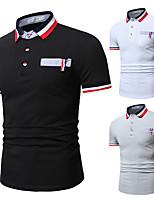 cheap -Men's T shirt Hiking Tee shirt Golf Shirt Short Sleeve Tee Tshirt Top Outdoor Quick Dry Lightweight Breathable Sweat wicking Spring Summer White Black Light Grey Hunting Fishing Climbing