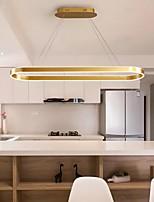 cheap -LED Pendant Light Modern Black Gold Circle Design Island Light 80 cm Metal Dining Room Kitchen 110-120V 220-240V
