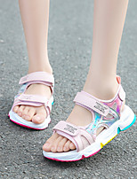 cheap -Girls' Sandals Comfort Flower Girl Shoes Children's Day Mesh PU Mary Jane Little Kids(4-7ys) Big Kids(7years +) Sports & Outdoor Daily Home Water Shoes Walking Shoes Split Joint White Pink Green