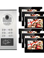cheap -6 Apartments 7 Multi Apartment Video Door Phone System Video Intercom Doorbell System 700 TVL Camera for 6 Families