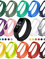 cheap -Smartwatch band for xiaomi mi band 5 bracelet, 15 colors silicone replacement strap soft sports bracelet adjustable wristband replacement fitness silicone bracelet compatible for xiaomi miband 5