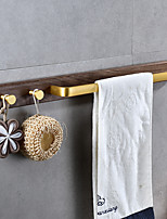 cheap -Multifunction Towel Bar Zinc Alloy Towel Rack Free Punch Bathroom Single Rod with 2 Hooks 1PC