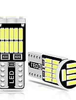 cheap -10PCS T10 Led Canbus W5W Led Bulbs 168 194 6000K White Signal Lamp Dome Reading License Plate Light Car Interior Lights Auto