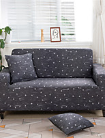 cheap -Dark Grey Print Dustproof All-powerful Slipcovers Stretch Sofa Cover Super Soft Fabric Couch Cover with One Free Boster Case(Chair/Love Seat/3 Seats/4 Seats)