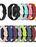 cheap -Smart Watch Band for Samsung 1 pcs Classic Buckle Silicone Replacement  Wrist Strap for Galaxy Fit 2(SM-R220)