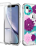 cheap -Flower Clear Bumper Phone Case for iPhone 11 iPhone  XR Shockproof Dustproof Flower Pattern TPU Back Cover