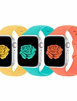 cheap -Smart watch band compatible with apple watch bands 38mm 40mm 42mm 44mm women men soft silicone sport replacement strap compatible for apple watch se series 6 5 4 3 2 1, sport edition, 3 pack