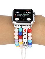 cheap -Smart Watch Band for Apple iWatch 1 pcs Elastic band Elastic Beaded Replacement  Wrist Strap for Apple Watch Series SE / 6/5/4/3/2/1