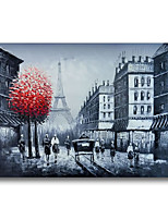 cheap -Oil Painting Handmade Hand Painted Wall Art Architeture Paris Street Home Decoration Dcor Stretched Frame Ready to Hang